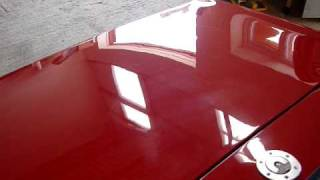 Carnauba wax @ Eclectic Cars. TR6 Boot scratches Video