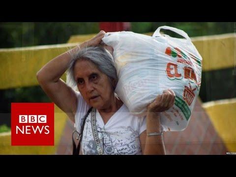 'Desperate' Venezuelans stream into Colombia to buy food - BBC News