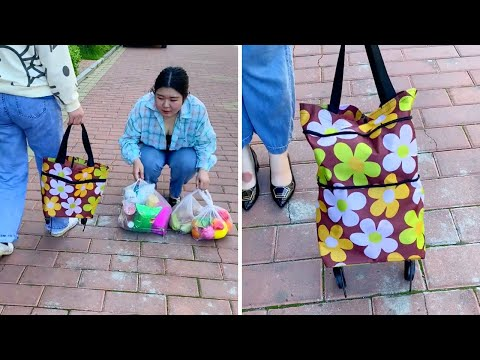 Foldable Shopping Trolley Bag with Wheels 2021 - Reusable Shopping Bag