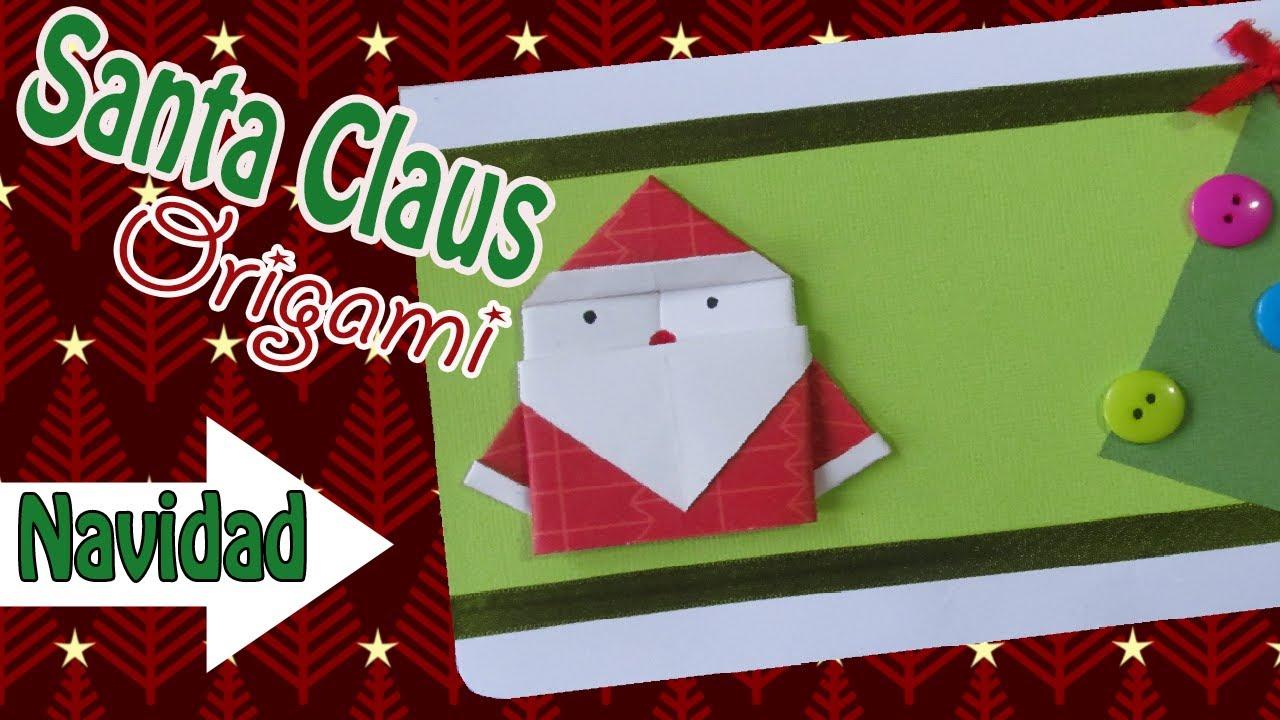 Santa origami para tarjetas navide as paso a paso - Manualidades navidenas paso a paso ...