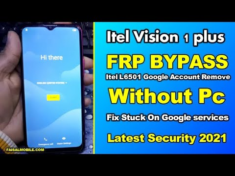 Itel Vision 1 Plus Frp Bypass || Itel L6501 Frp Google Account Remove