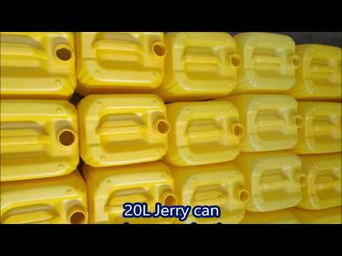 20L HDPE OIL JERRY CAN BLOW MOLDING MACHINE IN AFRICA CUSTOMER'S FACTORY