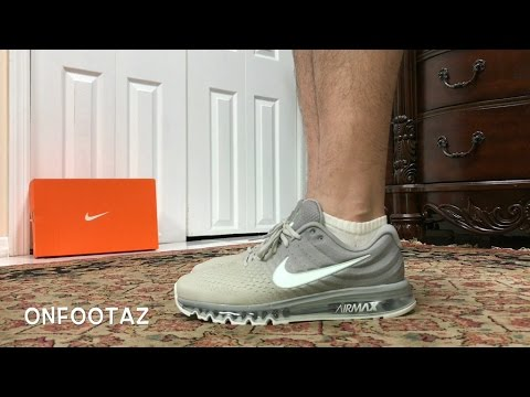 Nike Air Max 2017 Matte Silver White On Foot