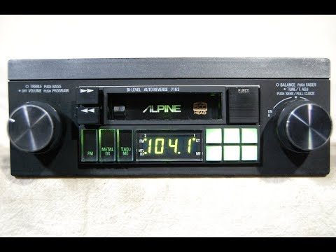 [ANLQ_8698]  Vintage Alpine 7280 am/fm cassette car stereo - YouTube | Alpine 7163 Wiring Harness |  | YouTube
