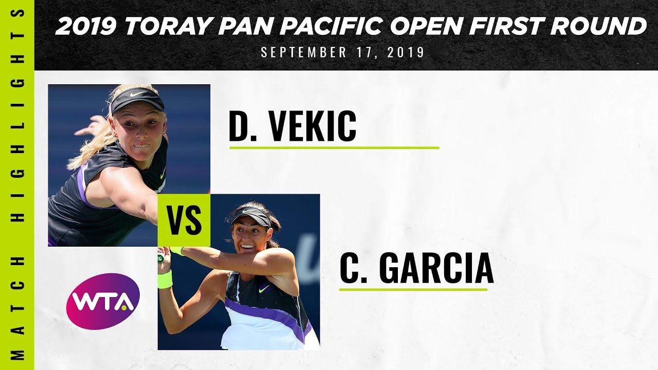 Donna Vekic vs. Caroline Garcia | 2019 Osaka First Round | WTA Highlights