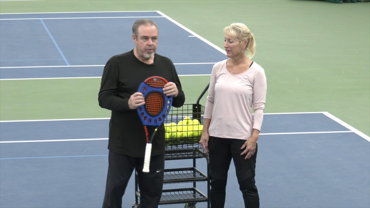 Improve Your Ability to Hit in the Sweet Spot in Tennis with OnCourt OffCourt's Sweet Spot Trainer