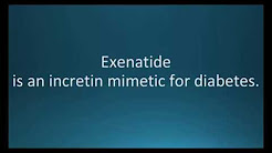 How to pronounce exenatide (Byetta) (Memorizing Pharmacology Flashcard)