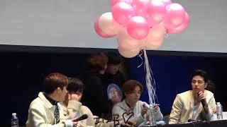180204 iKON 아이콘 목동 팬싸인회 중간 토크 직캠