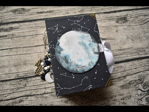 """Junk Journals Flip Through \ Dream Journal \ """"The Moon"""""""