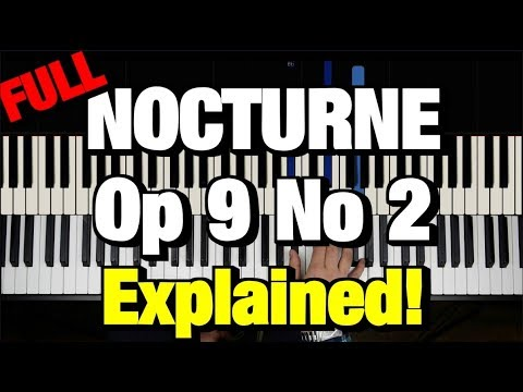 CHOPIN - NOCTURNE OP.9 NO.2 (PIANO TUTORIAL LESSON) (COMPLETE)