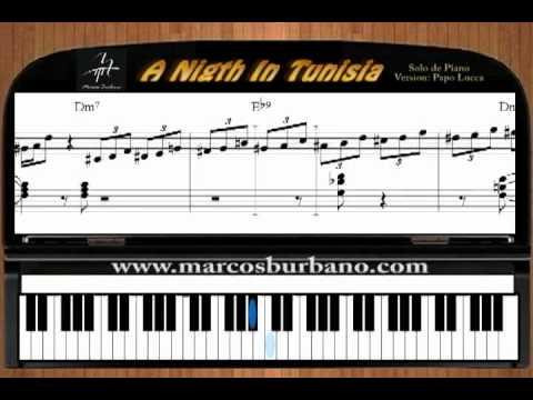 A Night in Tunisia - SOLO DE PIANO - TUTORIAL SALSA - LATIN JAZZ - papo lucca