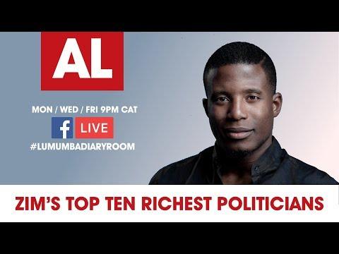 Acie Lumumba #LumumbaDiaryRoom Ep 1: Zim's Top 10 Richest Politicians