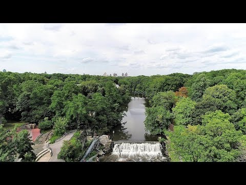 Aerial View of Bronx River in 4K (Bronx Zoo Part)