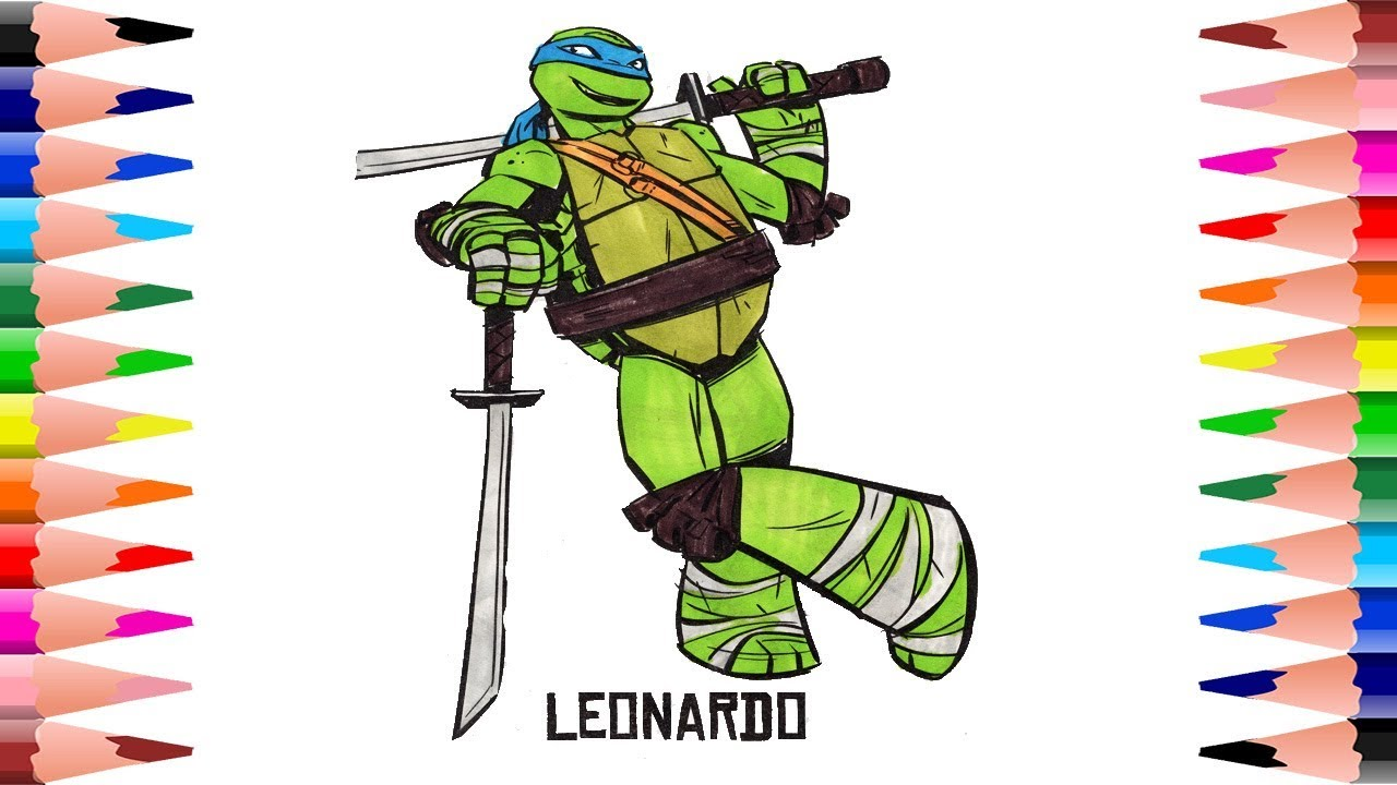 coloring teenage mutant ninja turtles coloring pages for kids