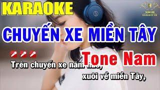 Karaoke Chuyến Xe Miền Tây Tone Nam Nhạc Sống | Trọng Hiếu