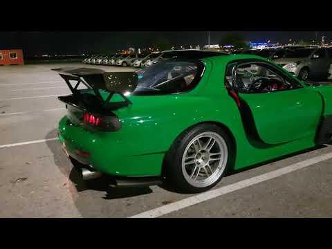 85 Mazda RX-7 13B peripheral port idling at 1800 rpm | FunnyCat TV