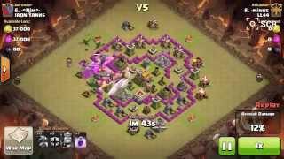 Clash of Clans TH7 All Dragon Raid using 3 Rage Spells