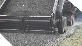 Dumping 30+ Tons of Gravel   Shot In 4K - Maxey 7x14 Dump Trailer
