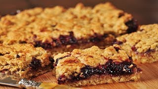 Raspberry Oatmeal Squares Recipe Demonstration - Joyofbaking.com