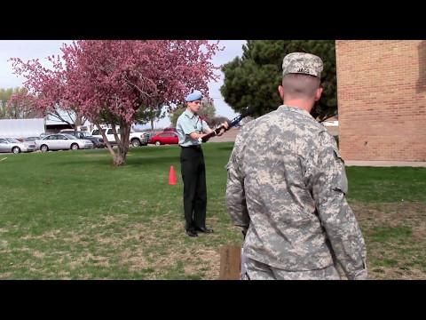 Pueblo County High School Drill Meet 2014 One Man Exhibition Performance