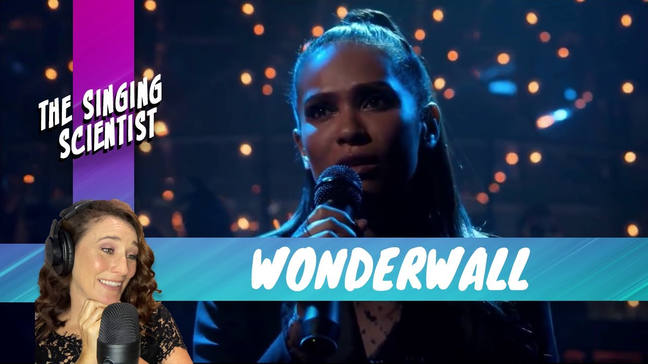 """Download Vocal Coach reacts to Lucifer Songs   Lesley-Ann Brandt singing """"Wonderwall""""   Season 4 Episode 9"""