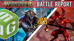 NEW Seraphon vs Blades of Khorne Age of Sigmar Battle Report - Ep17