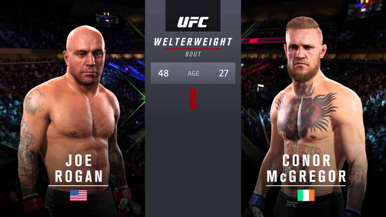 VIDEO   Joe Rogan vs  Conor McGregor in 'EA Sports UFC 2
