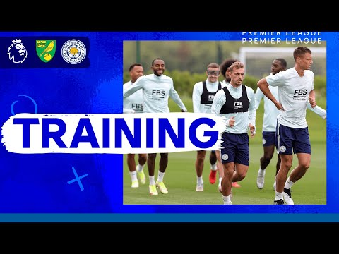 Foxes train before the Canaries |  Norwich City vs. Leicester City