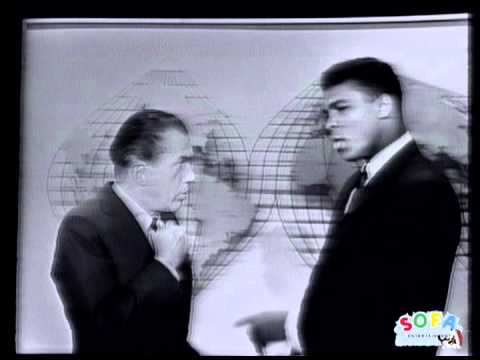Cassius Clay (Muhammad Ali) talks with Ed Sullivan