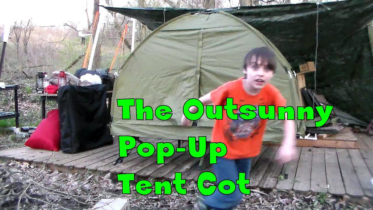 Product Review  The Outsunny Pop-Up Tent Cot  sc 1 st  YouTube & Product Review : The Outsunny Pop-Up Tent Cot - YouTube