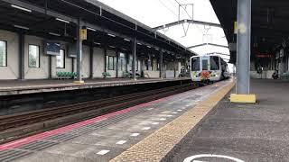 もうすぐ引退 2000系アンパンマン列車グリーン編成・特急南風18号丸亀駅発車