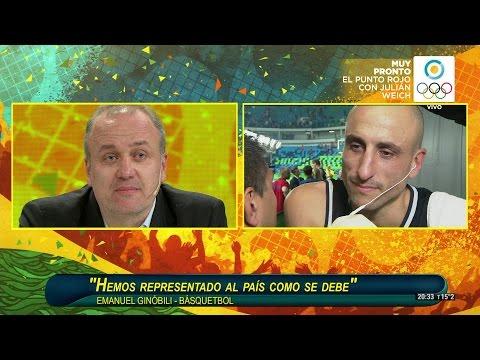 Emocionante: Manu Ginobili se despidió de la Selección