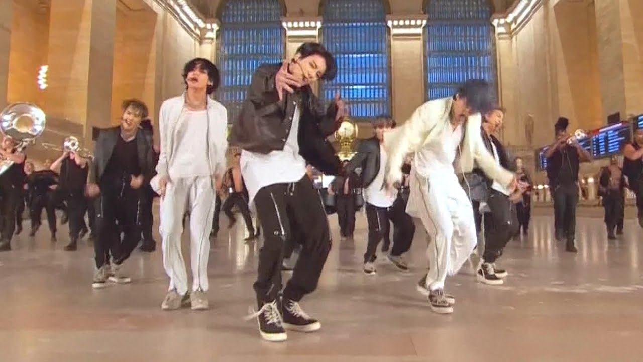 Download Watch BTS Perform New Song 'ON' in Grand Central Terminal
