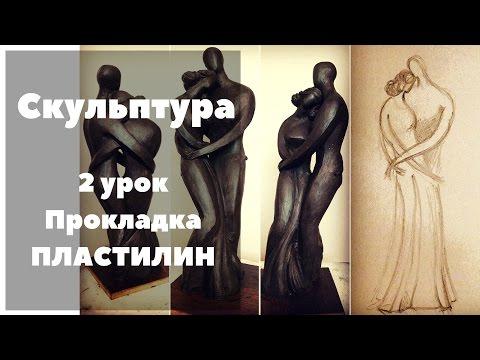 Скульптура. 2 Урок. Каркас, Прокладка Пластилином