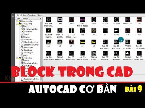 Cách tạo thư viện - BLOCK trong CAD || Autocad cơ bản - Bài 9