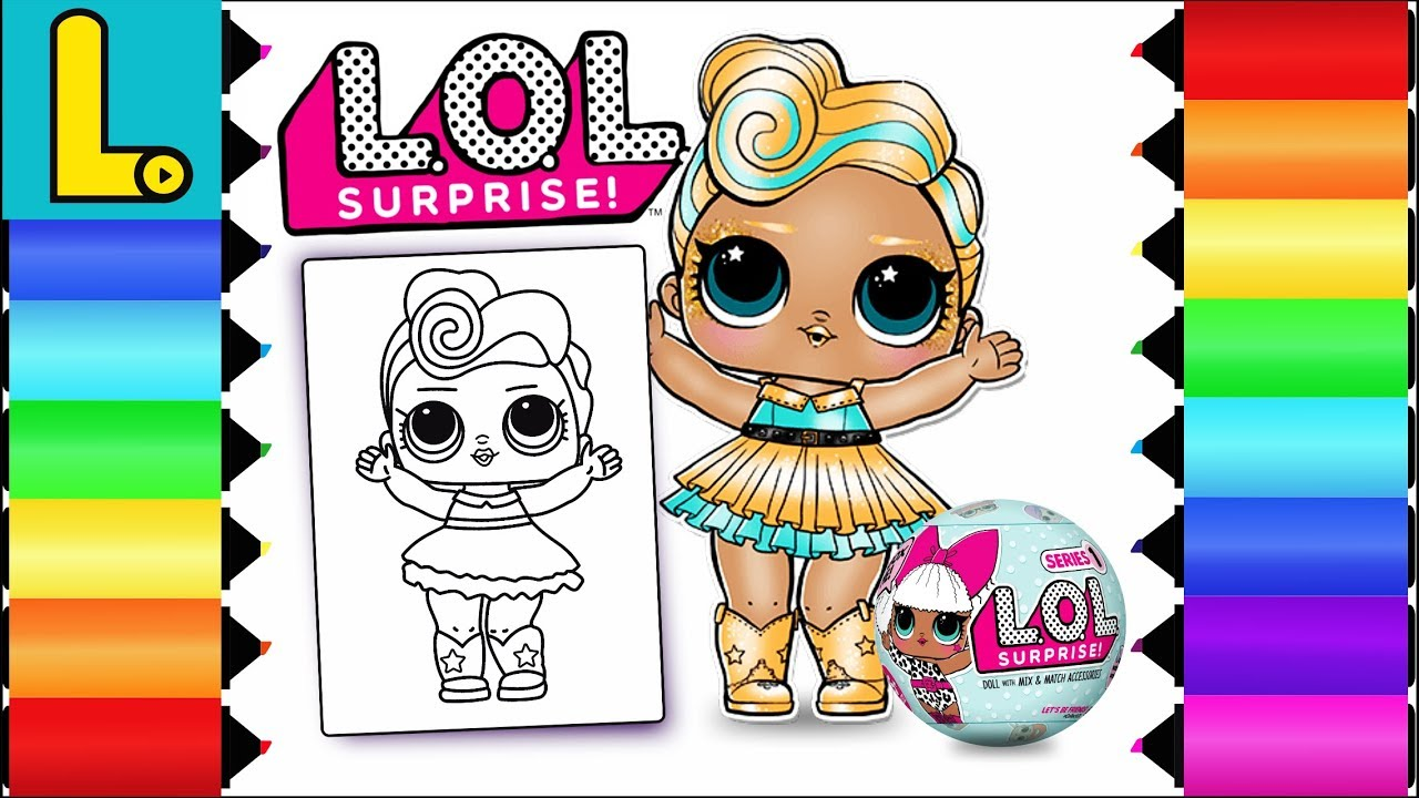 Drawing and Coloring LOL Surprise Doll LUXE Printable