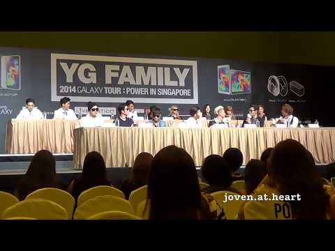 20140912 YG Family Concert Singapore Press Conference FULL