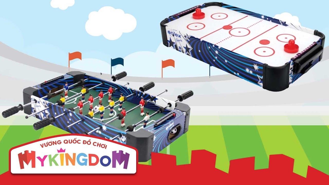 Đồ chơi Bi Lắc và Air Hockey mô phỏng trận bóng đá và Khúc Côn Cầu