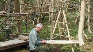 Bushcraft Survival Long Term Wilderness Shelter Part 5 Of 7 Making A Camp Chair.wmv
