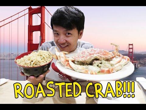 ROASTED Crab & GARLIC Noodles in San Francisco