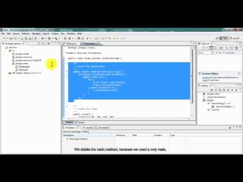how to create user interface in java using eclipse