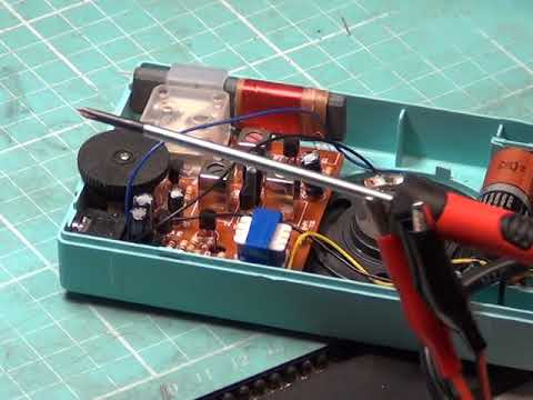 HX-6B, 6 Transistor Chinese radio kit assembly & alignment - The turquoise one