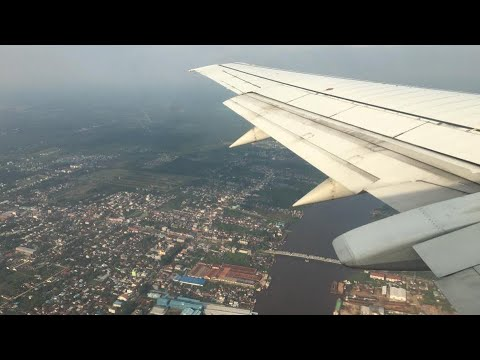 [HD] Xpressair Boeing 737 beautiful flight from Kuching to Pontianak (Borneo Island) - 28/08/2016