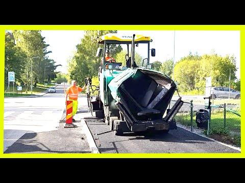 Sidewalk paving in Stockholm-Sweden with expensive asphalt!