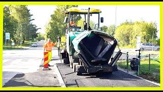 SWEDEN - MODERN SIDEWALK PAVEMENT in Stockholm with expensive asphalt!