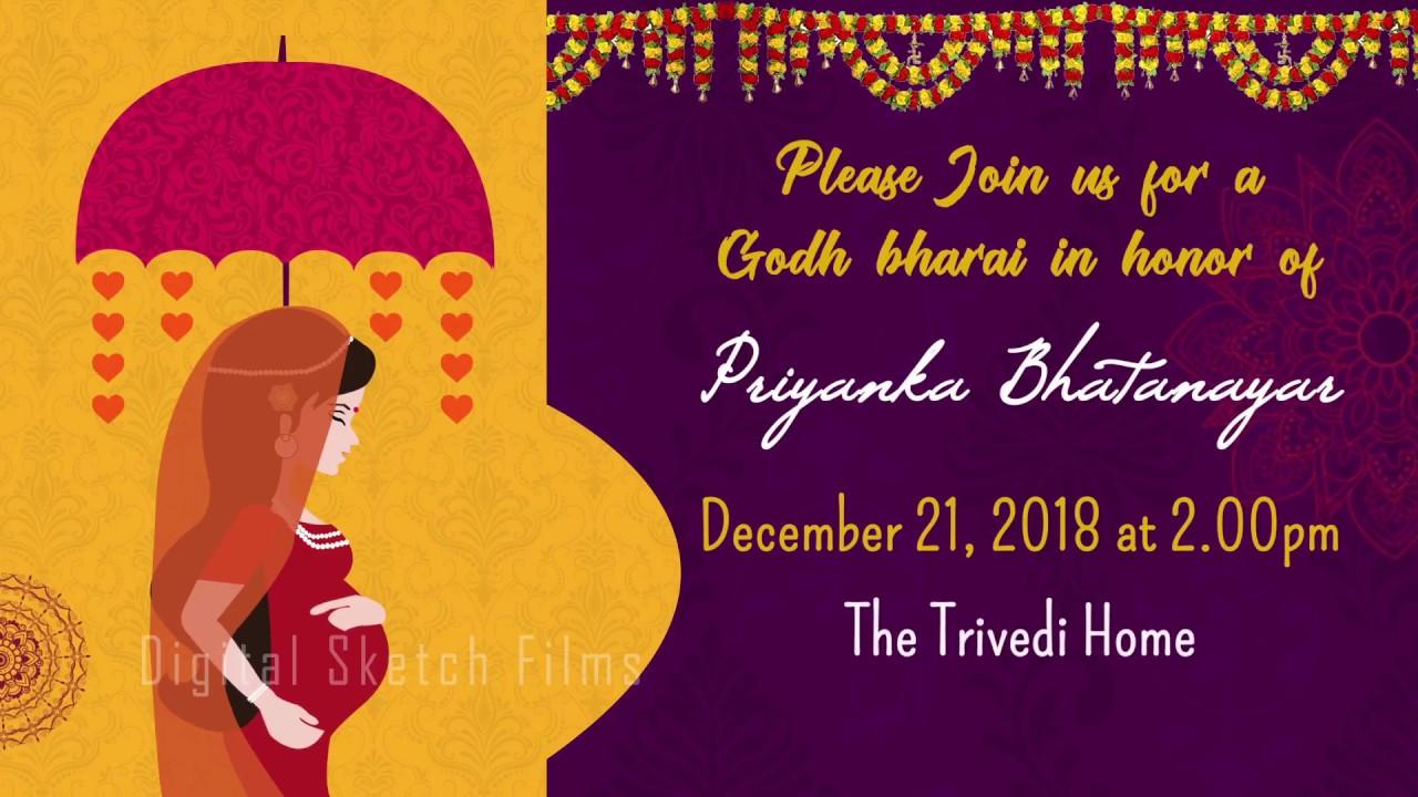 Godh Bharai Baby Shower Sreemanthanamu Invitation Video