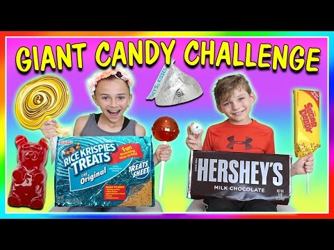 Thumbnail: GIANT CANDY CHALLENGE! | We Are The Davises