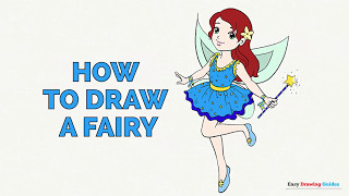 How to Draw a Fairy in a Few Easy Steps: Drawing Tutorial for Kids and Beginners