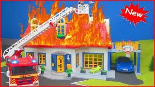 Vídeos de brinquedos de bombeiros para crianças - Desenhos animados de bombeiros para crianças 2017