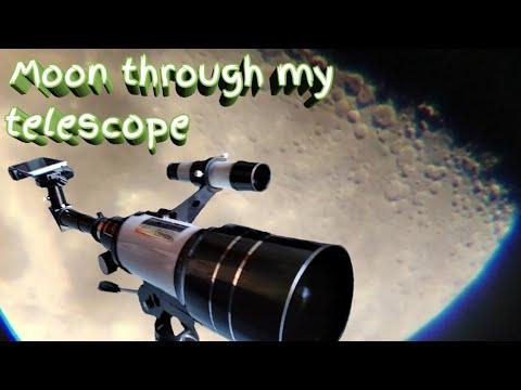 Moon through my telescope - F30070M (Alfred Gorat)